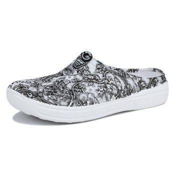 Hollow Out Printed Slippers - GRAY 40