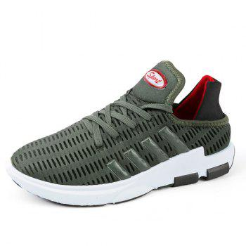 Breathable Lace Up Mesh Athletic Shoes - ARMY GREEN 40