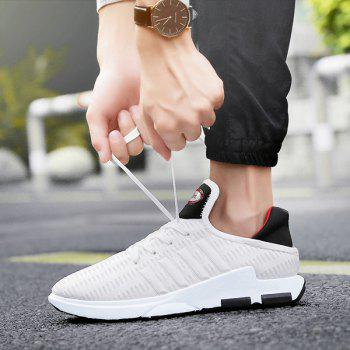 Breathable Lace Up Mesh Athletic Shoes - WHITE 44