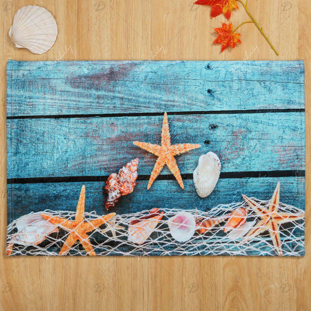2018 Large Size Starfish Shell Coral Fleece Bath Rug Lake