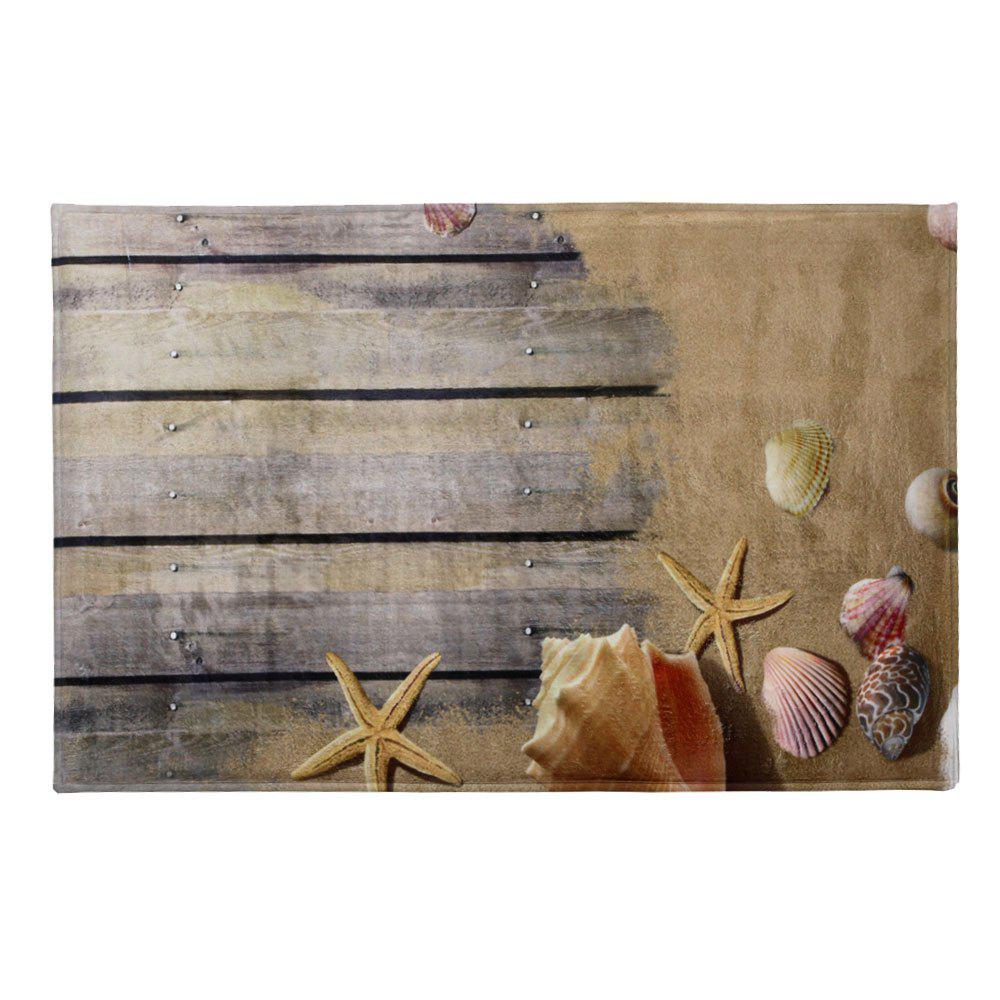 Plank Shell Extra Large Coral Velvet Area Rug