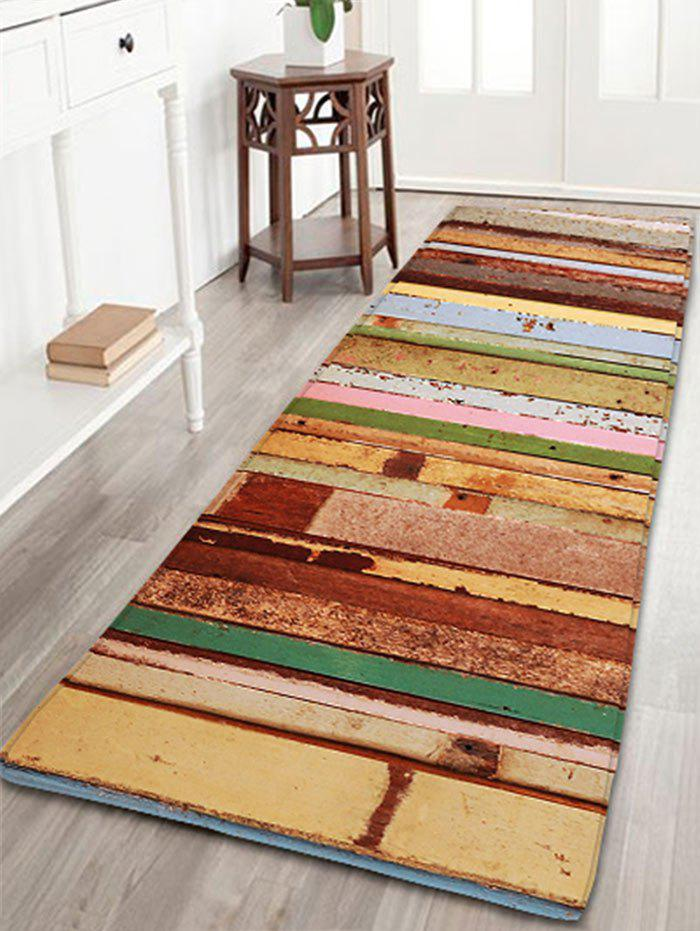 Colorful Wood Grain Print Flannel Bathroom Rug colorful stripes wood grain flannel area rug