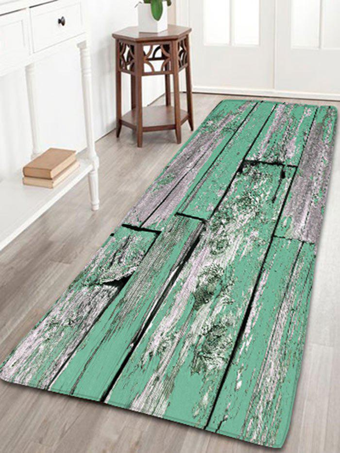Flannel Skidproof Wood Grain Print Bath Mat цена 2017