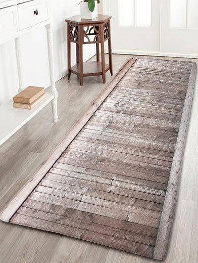 Wood Grain Bathroom Antiskid Flannel Rug - LIGHT COFFEE W16 INCH * L47 INCH