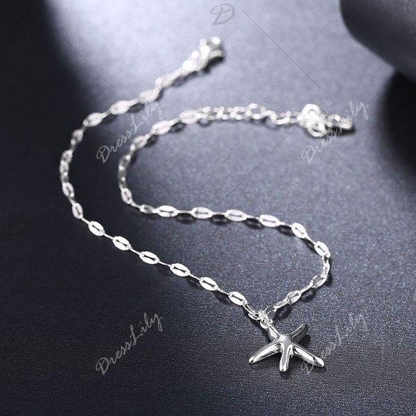 Cute Charm Starfish Anklet - SILVER