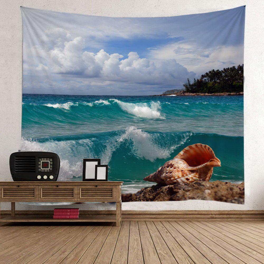 Home Decor Sea Wave Conch Wall Tapestry - COLORFUL W59 INCH * L79 INCH