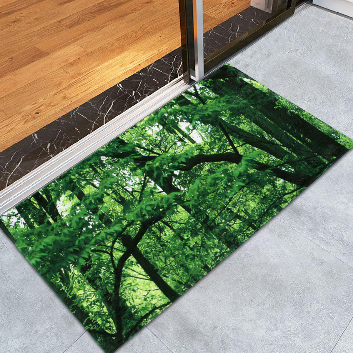 Forest Coral Water Absorbent Velvet Area Rug - GREEN W24 INCH * L35.5 INCH