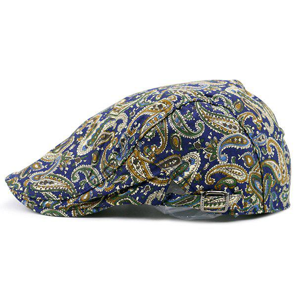 Retro Paisley Printing Newsboy Hat - COLORFUL