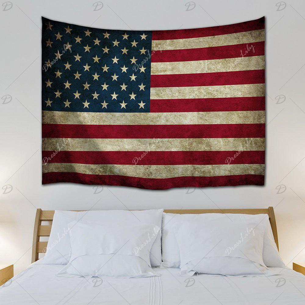Wall Hanging Distressed American Flag Tapestry - COLORMIX W71 INCH * L91 INCH