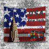 Patriotic American Flag Bus Tapestry - COLORFUL W59 INCH * L59 INCH