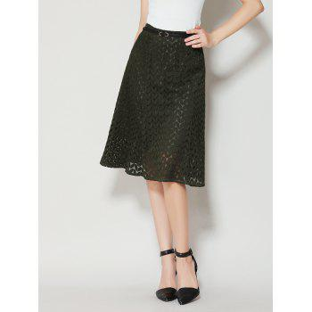 A Line High Waist Lace Skirt