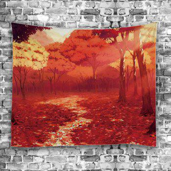 Nature Forest Autumn Road Foliage Tapestry - Eau Rouge W59 INCH * L59 INCH