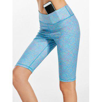 Line Drawing Midi Waist Fitness Tights