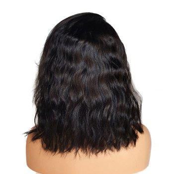 Short Side Part Bouffant Natural Wave Lace Front Synthetic Wig - BLACK 14INCH