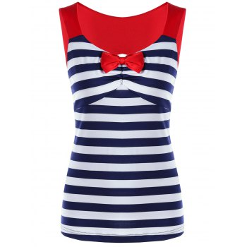 Empire Waist Striped Open Back T-shirt