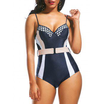 Low Back Padded Underwire One Piece Swimwear