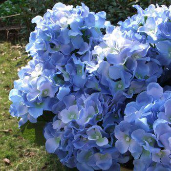 Home Decorative High Simulation Ombre Artificial Flowers - Bleu