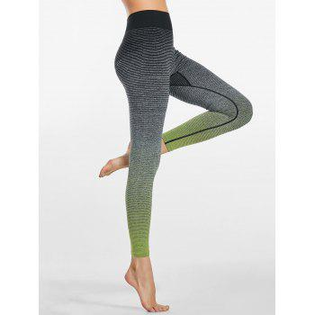 Ombre Striped Ninth Fitness Leggings