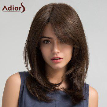 Adiors Long Oblique Bang Straight Synthetic Wig