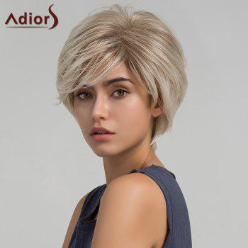 Adiors Short Side Bang Layered Shaggy Straight Colormix Synthetic Wig