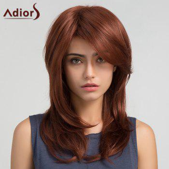 Adiors Inclined Bang Long Straight Synthetic Wig
