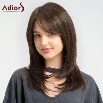 Adiors Long Straight Oblique Bang Synthetic Wig