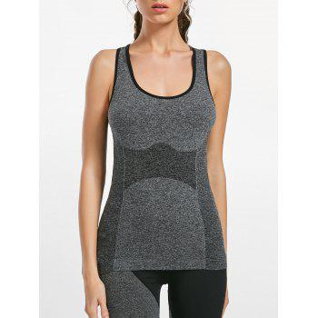 Sports Slim Marled Racerback Tank Top