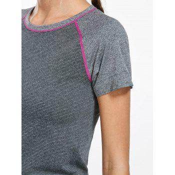 Breathable Raglan Sleeve Sports T-shirt - L L