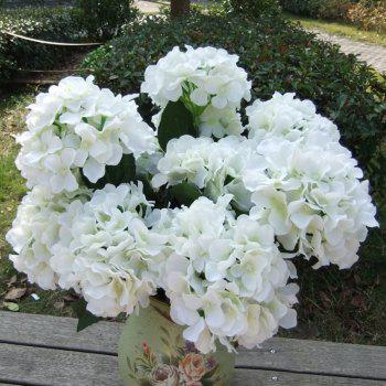 Home Decorative High Simulation Ombre Artificial Flowers -  WHITE