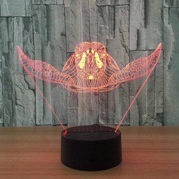 3D Sea Turtle Color Changing Touch Night Light -  TRANSPARENT