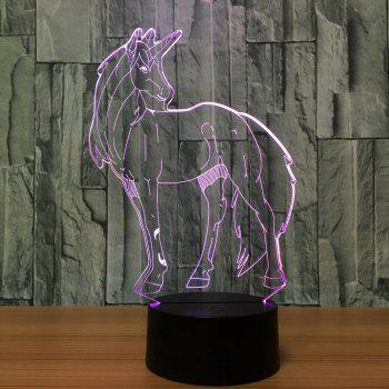 3D Unicorn Shape LED Color Changing Night Light - TRANSPARENT