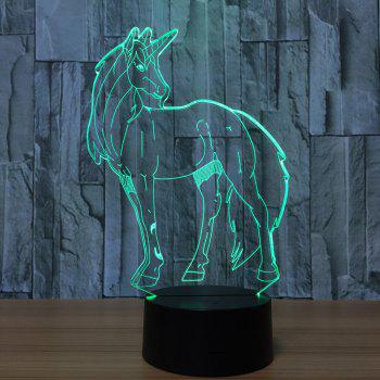 3D Unicorn Shape LED Color Changing Night Light