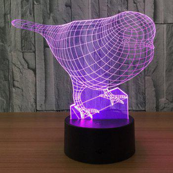 3D Color Changing Bird Shape Touch Night Light - TRANSPARENT TRANSPARENT