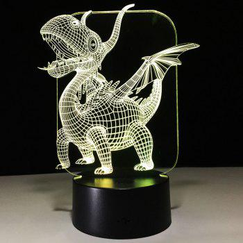 3D Dinosaur Shape Color Changing Night Light - TRANSPARENT