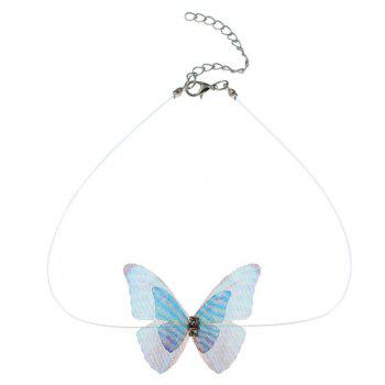 Mesh Rhinestone Butterfly Choker Necklace