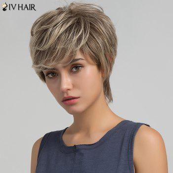 Siv Hair Short Colormix Layered Side Bang Shaggy Straight Hair Hair Wig - multicolorcolore