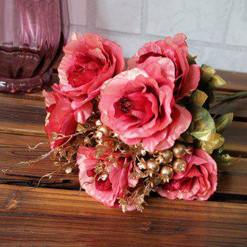 Home Living Room Decoration Vintage Artificial Flowers -  PINK