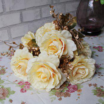 Home Living Room Decoration Vintage Artificial Flowers - YELLOW