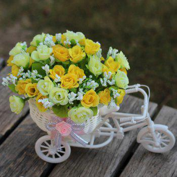 Salon Décoration de mariage Artificial Flowers With Basket Bike - Jaune