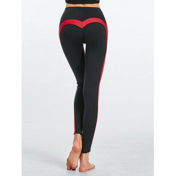 Two Tone Heart Shaped Fitness Leggings