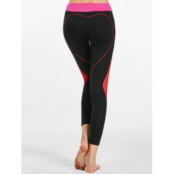 Heart Shaped Contrast Workout Leggings