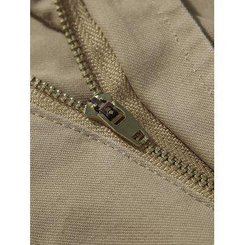 Zipper Fly Casual Cargo Shorts - ARMY GREEN 33