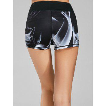 Lights Printed Mini Fitness Tights - M M