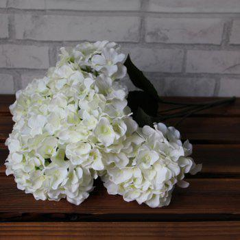 Home Decorative High Simulation Ombre Artificial Flowers - Blanc