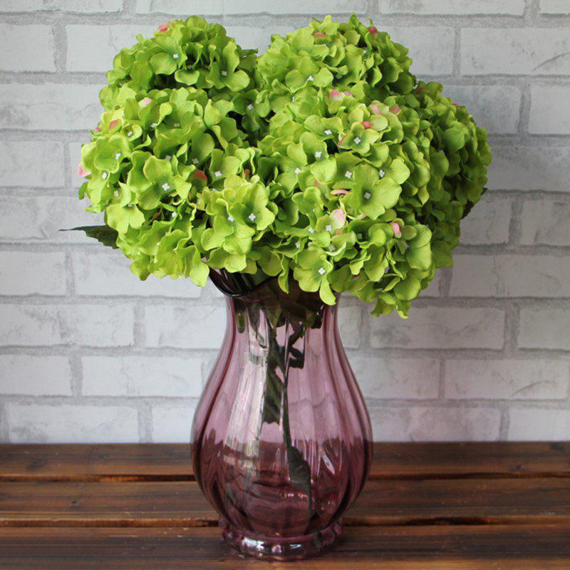 Home Decorative High Simulation Ombre Artificial Flowers - Vert Foncé