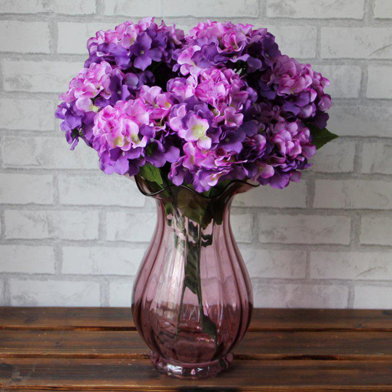 Home Decorative High Simulation Ombre Artificial Flowers - Pourpre