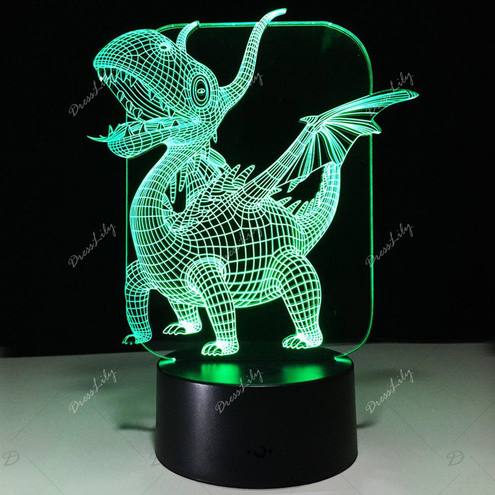 2018 3D Dinosaur Shape Color Changing Night Light