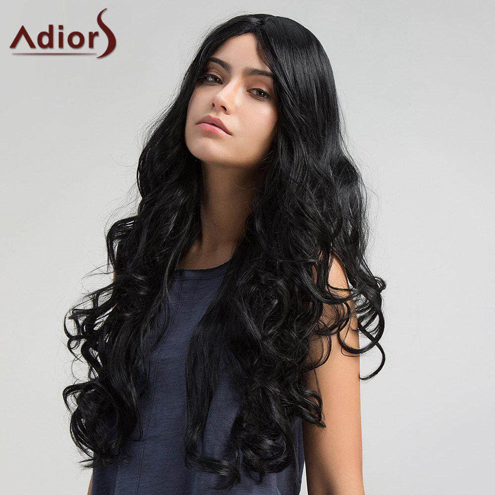 Adiors Long Shaggy Middle Part Wavy Synthetic Wig