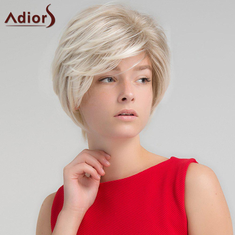 Adiors Short Side Part Shaggy Colormix Straight Synthetic Wig adiors long side part colormix layered curly synthetic wig