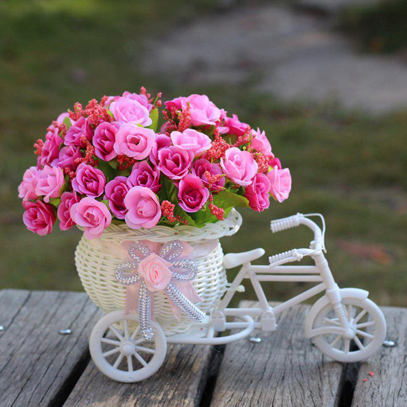 Living Room Wedding Decoration Artificial Flowers With Basket Bike - TUTTI FRUTTI